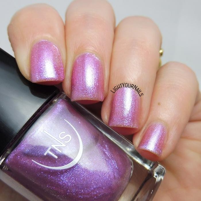Smalto rosa iridescente TNS 542 Villa Imperiale (collezione Lungomare) pink iridescent nail polish