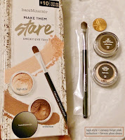 haul review Make them Stare BARE MINERALS smoky eye trio High Style Seduction tapered brush