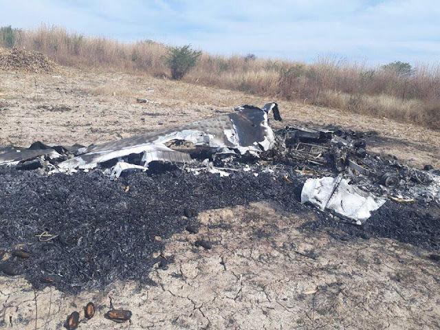 Hallan en Iguala avioneta desaparecida con los restos de dos tripulantes