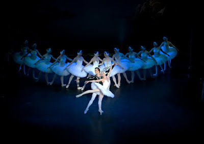 Swan Lake ballet performing in January 2017 at the Hall for Cornwall in Truro