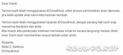 Ganti Lokasi Server IdCloudHost