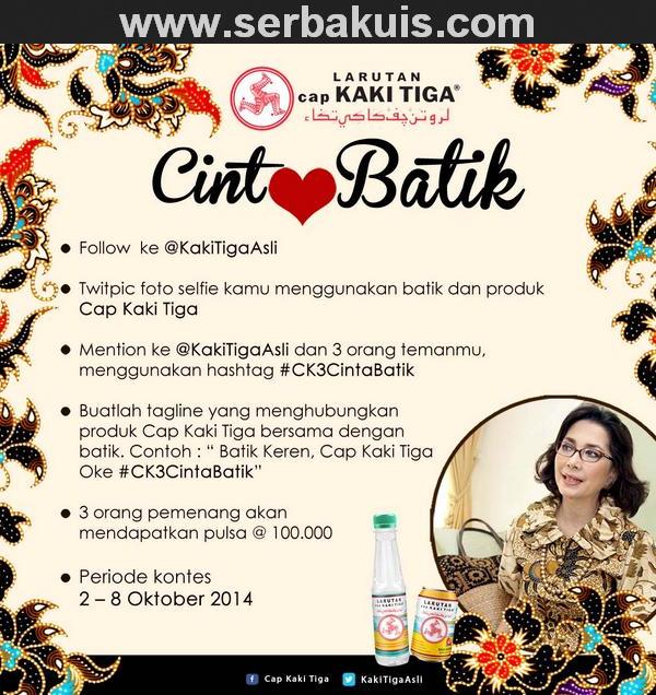 Kontes Selfie Cinta Batik Berhadiah Pulsa Total 300K