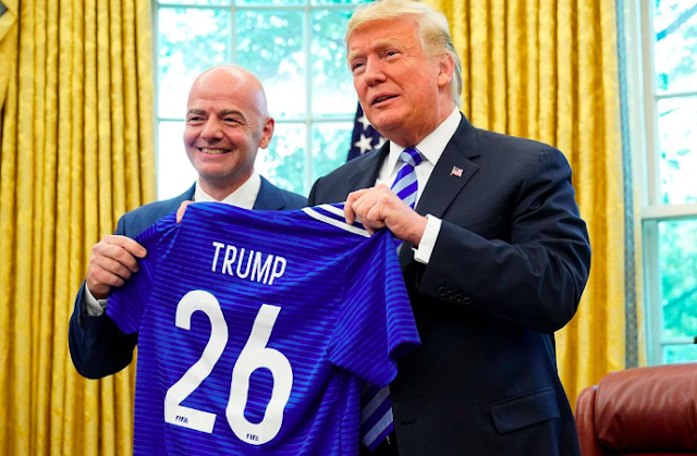 Donald Trump meets FIFA president Gianni Infantino