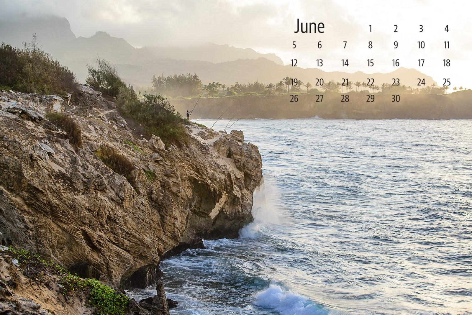 Kauai Calendar June : Shirley behind the lens june desktop calendar