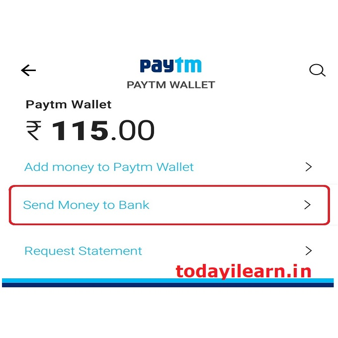 Transfer Paytm wallet balance (Cash backs) to your bank account