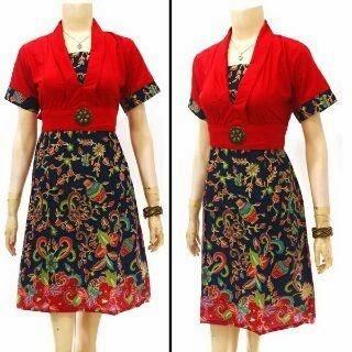 Baju Batik Wanita Model Dress Terbaru
