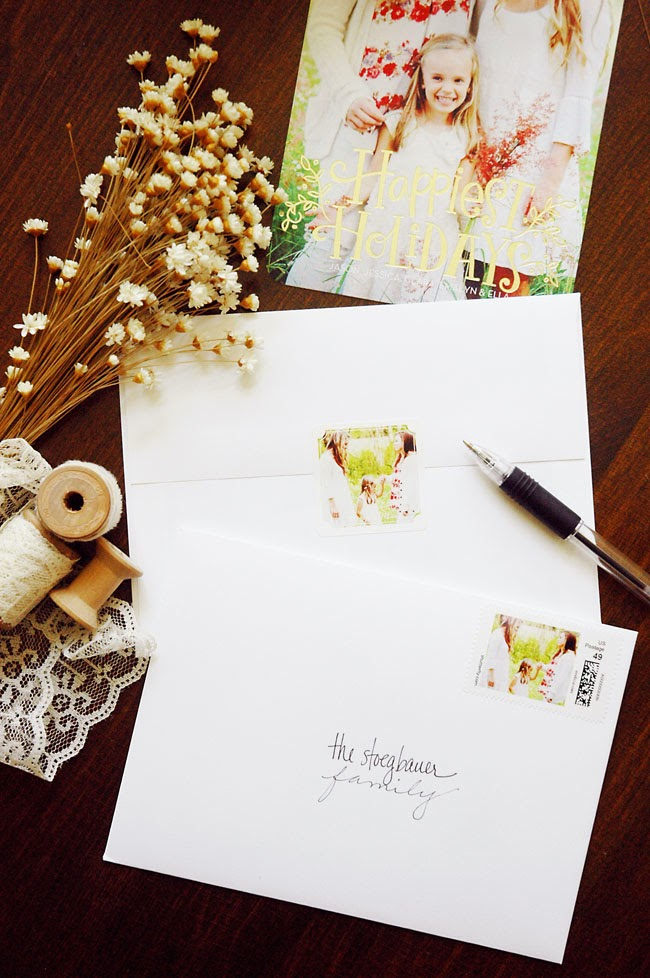 Pen + Paper Flowers: HOLIDAYS | Gold Foil Holiday Cards