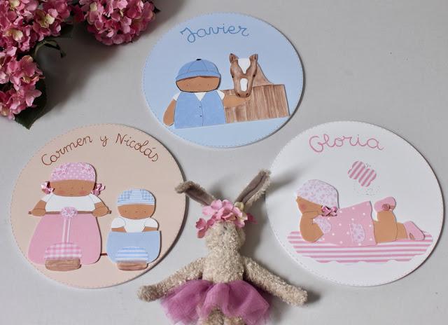 Decoración infantil personalizada :placas de puerta