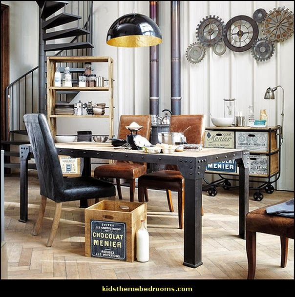 Decorating theme bedrooms maries manor industrial style decorating ideas industrial chic for Grande table du monde