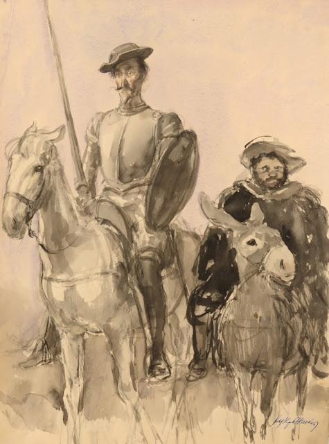 Koukryniksy, l'illustration pour « Don Quichotte» de Miguel de Cervantes, 1949-52, Galerie d'art, Pensa, Russie