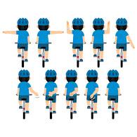 自転車で右折する方法・合図・ルール|車が直進/二段階