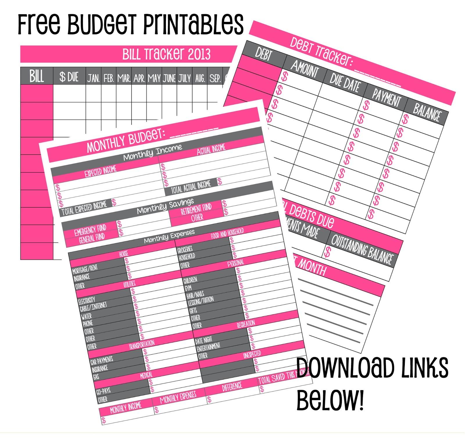 Free Worksheet Free Bi Weekly Budget Worksheet free budget template printable best photos of yearly household printables
