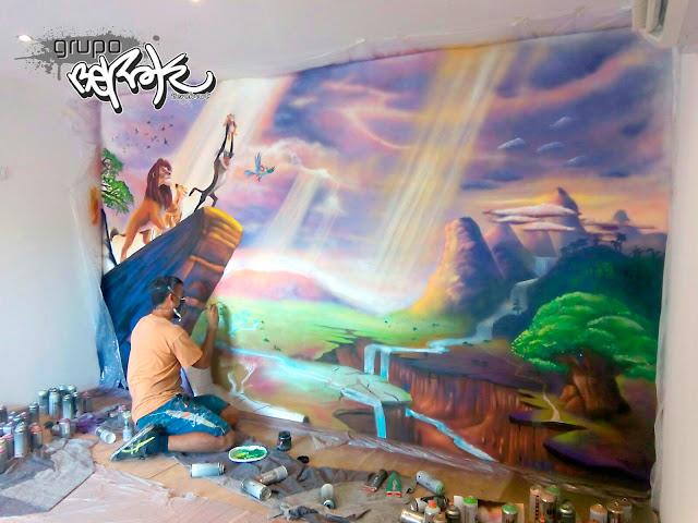 Pintura Mural infantil Hakuna Matata