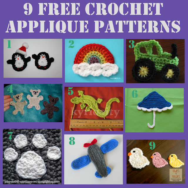 Crochet, Crochet Applique, Roundup, Free Crochet Applique Patterns,