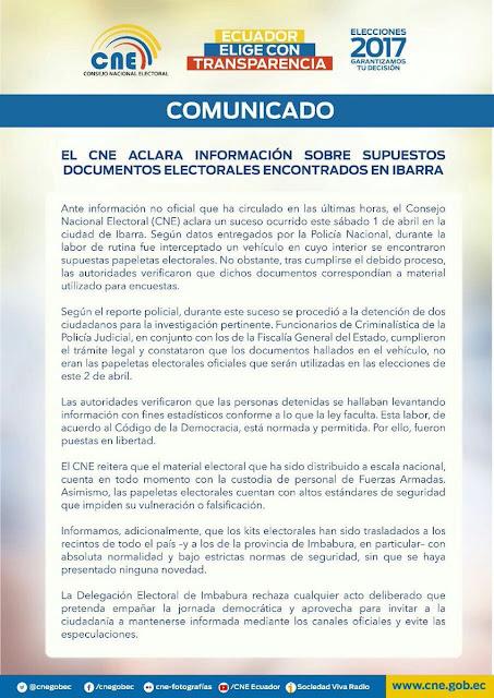 supuestos documentos electorales encontrados en Ibarra.