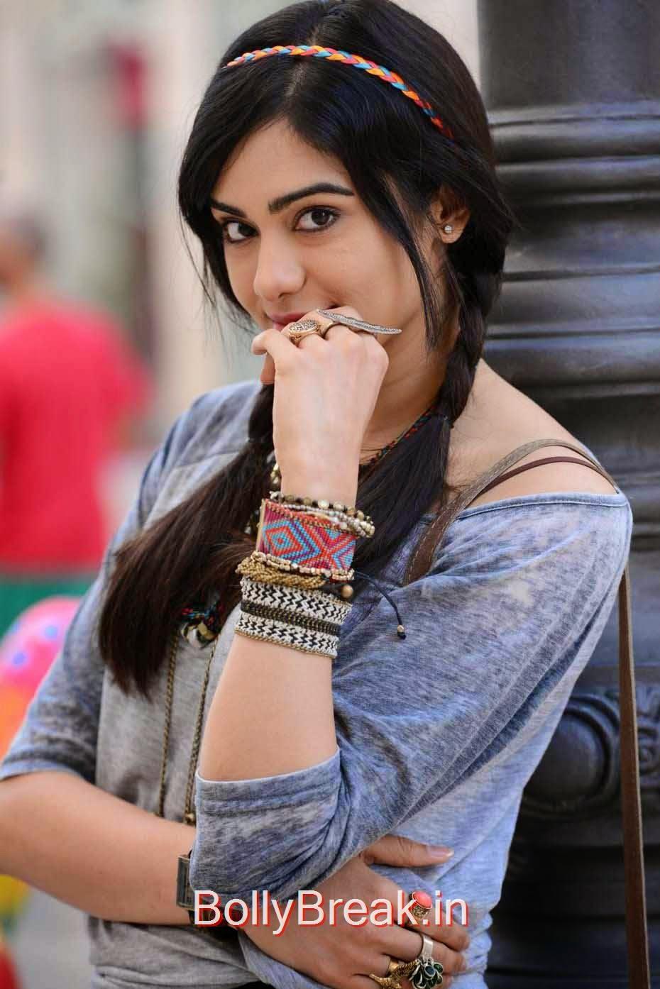 Adah Sharma Photos, Adah Sharma Hot Pics In Grey and White Top