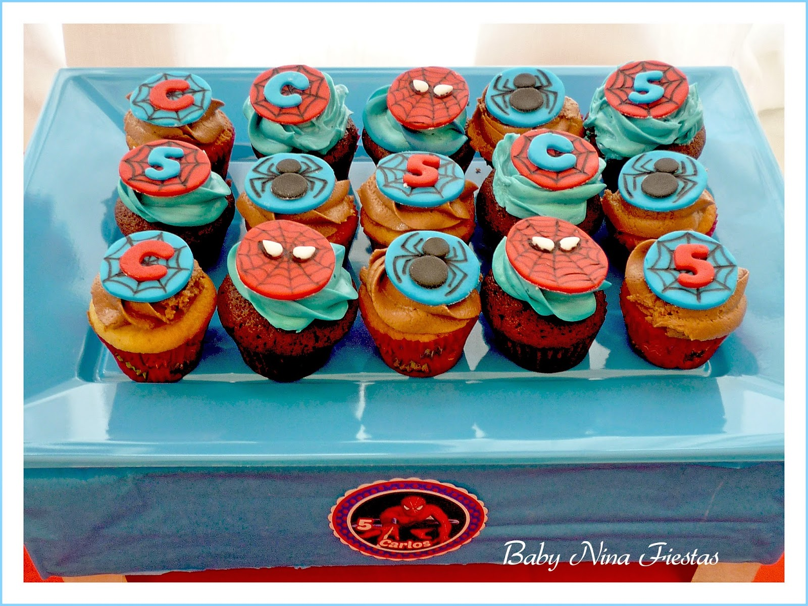 minicupcakes spiderman