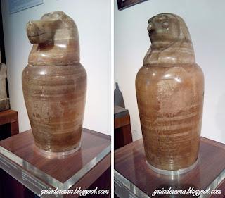 Peças egípcias da coleção do Museu Barraco de Roma