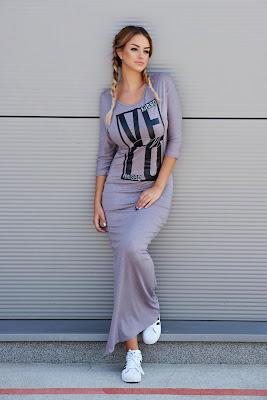 vestidos largos de rayas