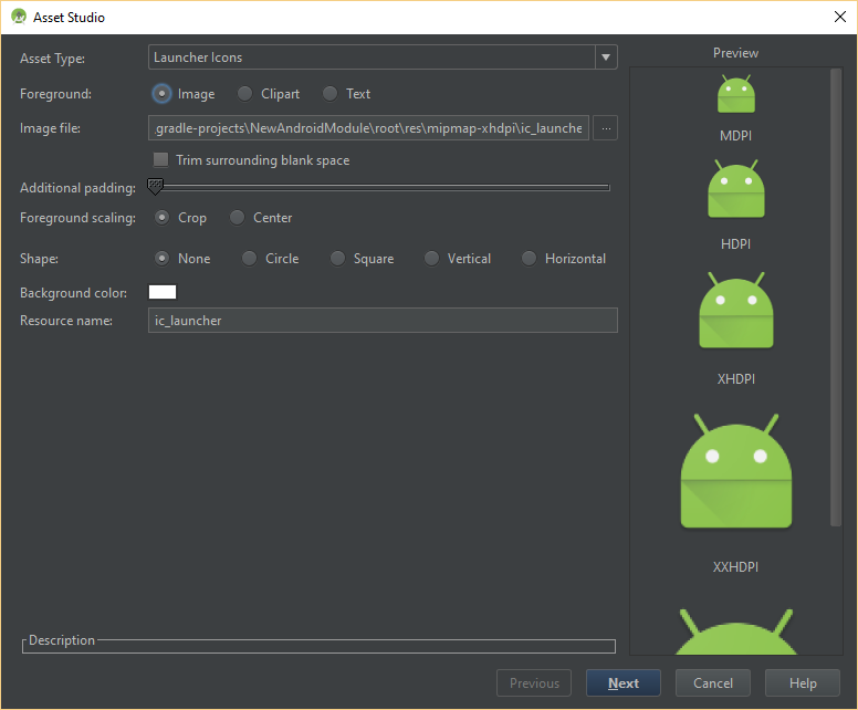 dominoc925: Use Android Studio's Image Asset to conveniently