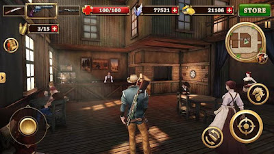 لعبة West Gunfighter للأندرويد، لعبة West Gunfighter مدفوعة للأندرويد