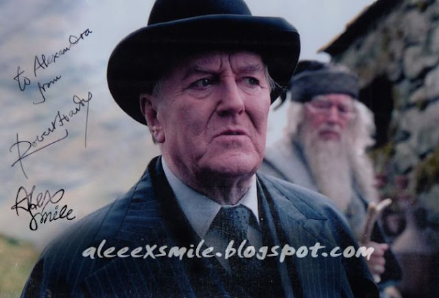 Robert Hardy Autograf  Autograph Harry Potter