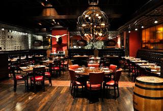 The dining room of the Ecco restaurant in Atlanta, Georgia