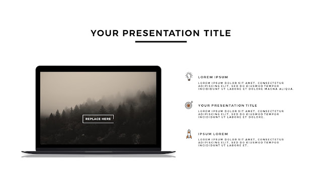 MacBook Space Grey Mockup Free Powerpoint Template Slide 2