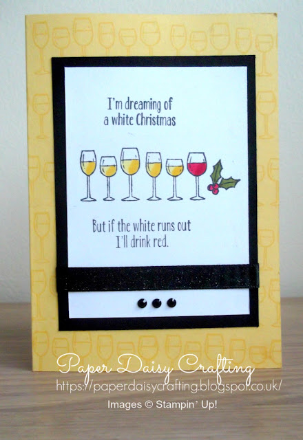 Humorous Christmas card with Stampin' Up!'s Half Full