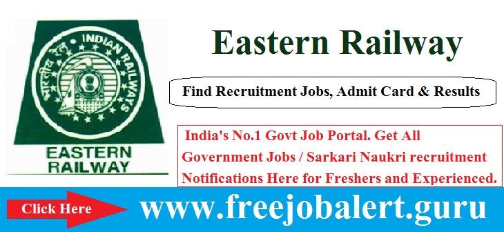 Eastern Railway Recruitment 2016-17 | 873 vacancies | Eastern Railway  Eastern Railway Recruitment 2016-17 | 873 vacancies