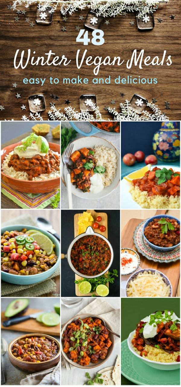 48 easy winter vegan meals including chilli and tagine recipes