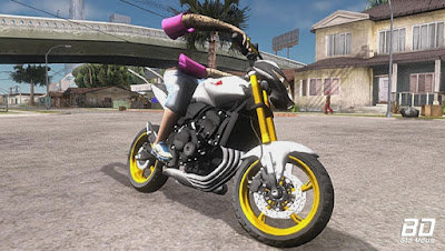 Download, Moto , Mod , HONDA HORNET 2012 DE FAVELA PC FRACO para GTA San Andreas, GTA SA , Jogo PC