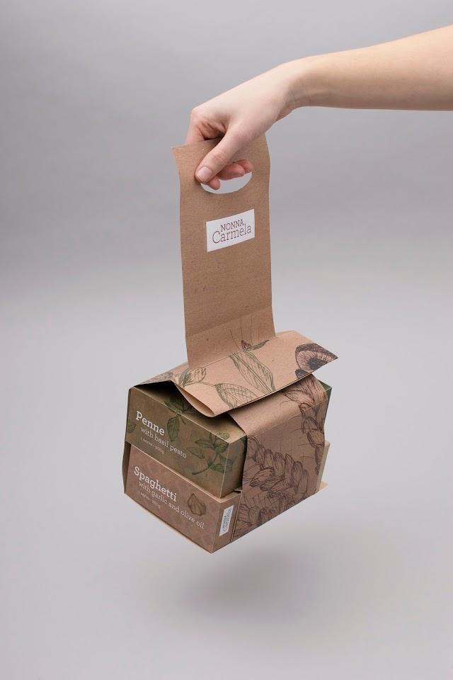 Example of Kraft paper packaging