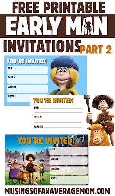 Early Man invitations