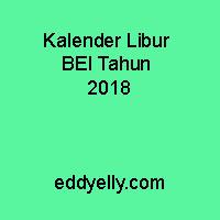 Kalender Libur BEI Tahun 2018