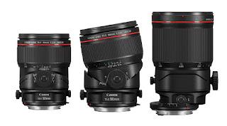 Canon TS-E 50mm f2.8L Macro TS-E 90mm f2.8L Macro TS-E 135mm f4L Macro lenses