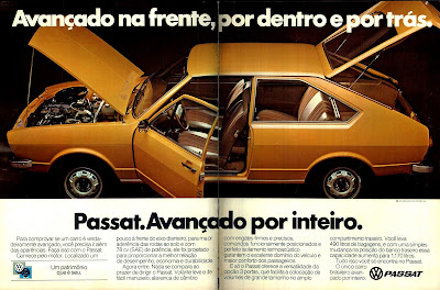 propaganda VW Passat - 1978.  brazilian advertising cars in the 70s; os anos 70; história da década de 70; Brazil in the 70s; propaganda carros anos 70; Oswaldo Hernandez;
