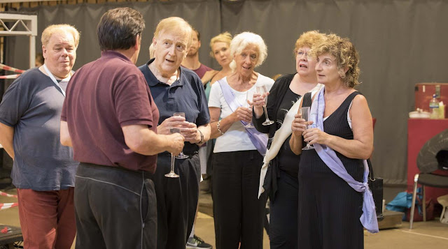 Bruce Graham, Peter Forbes, Billy Boyle, Josephine Barstow, Di Botcher, Norma Atallah rehearding  Follies, National Theatre (Photo