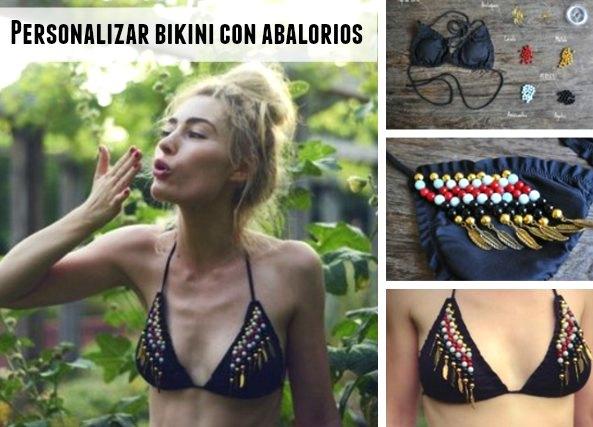 customizar un bikini con abalorios