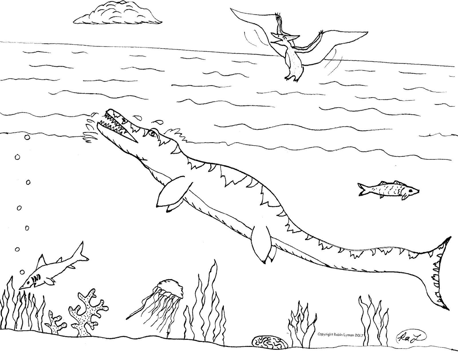pliosaurus coloring pages | Liopleurodon Coloring Pages Coloring Pages