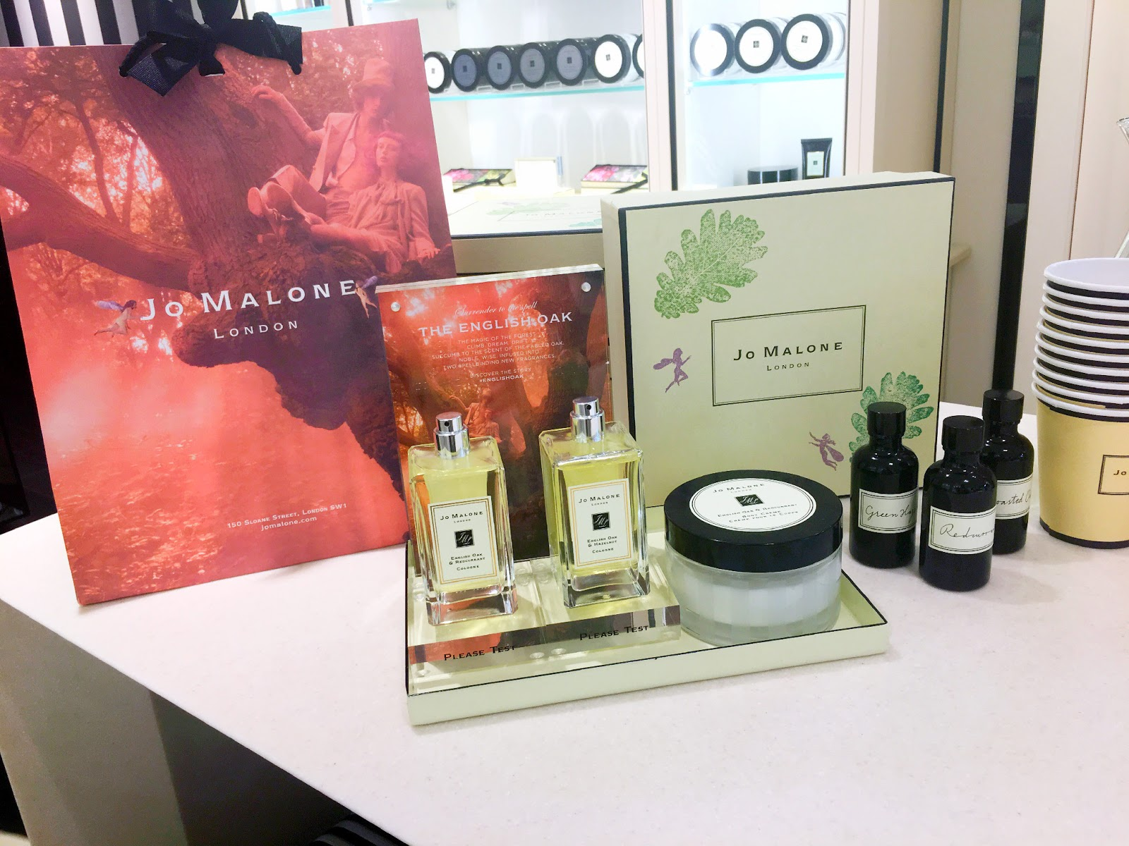 A Jo Malone English Oak Hand and Arm Massage