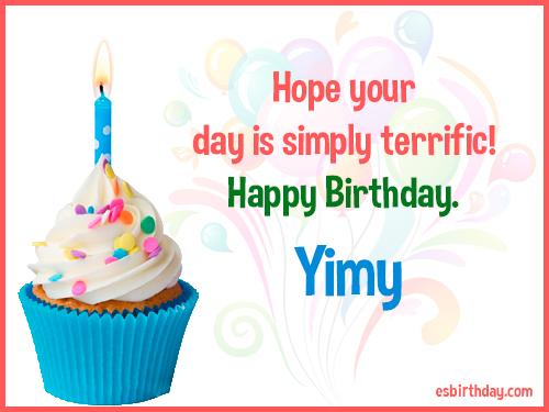 Yimy Happy birthday