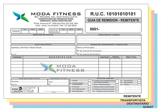 Dise os de facturas boletas guia de remisi n ect for Lista de empresas en lima