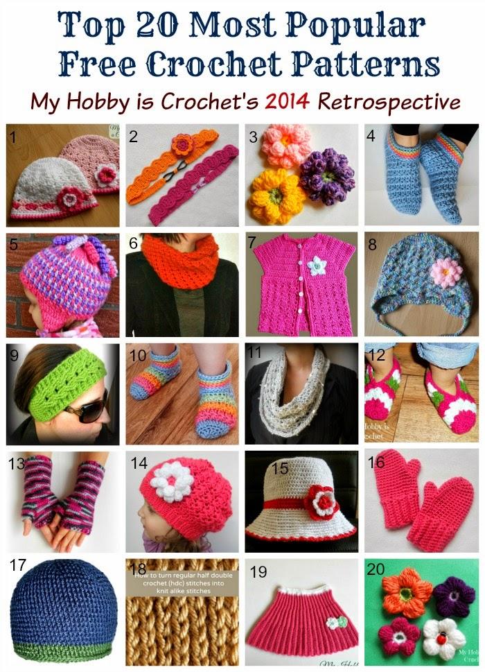 Top 20 Most Popular Free Crochet Patterns| My Hobby is Crochet's 2014 Retrospective