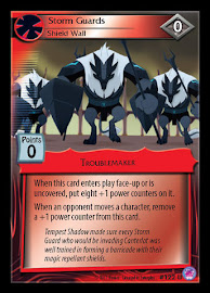 My Little Pony Storm Guards, Shield Wall Seaquestria and Beyond CCG Card