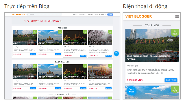 Việt Blogger Travel Tour Blogger Template