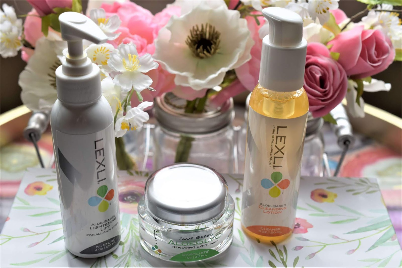My Current Facial Skincare to Fade Dark Spots with Lexli