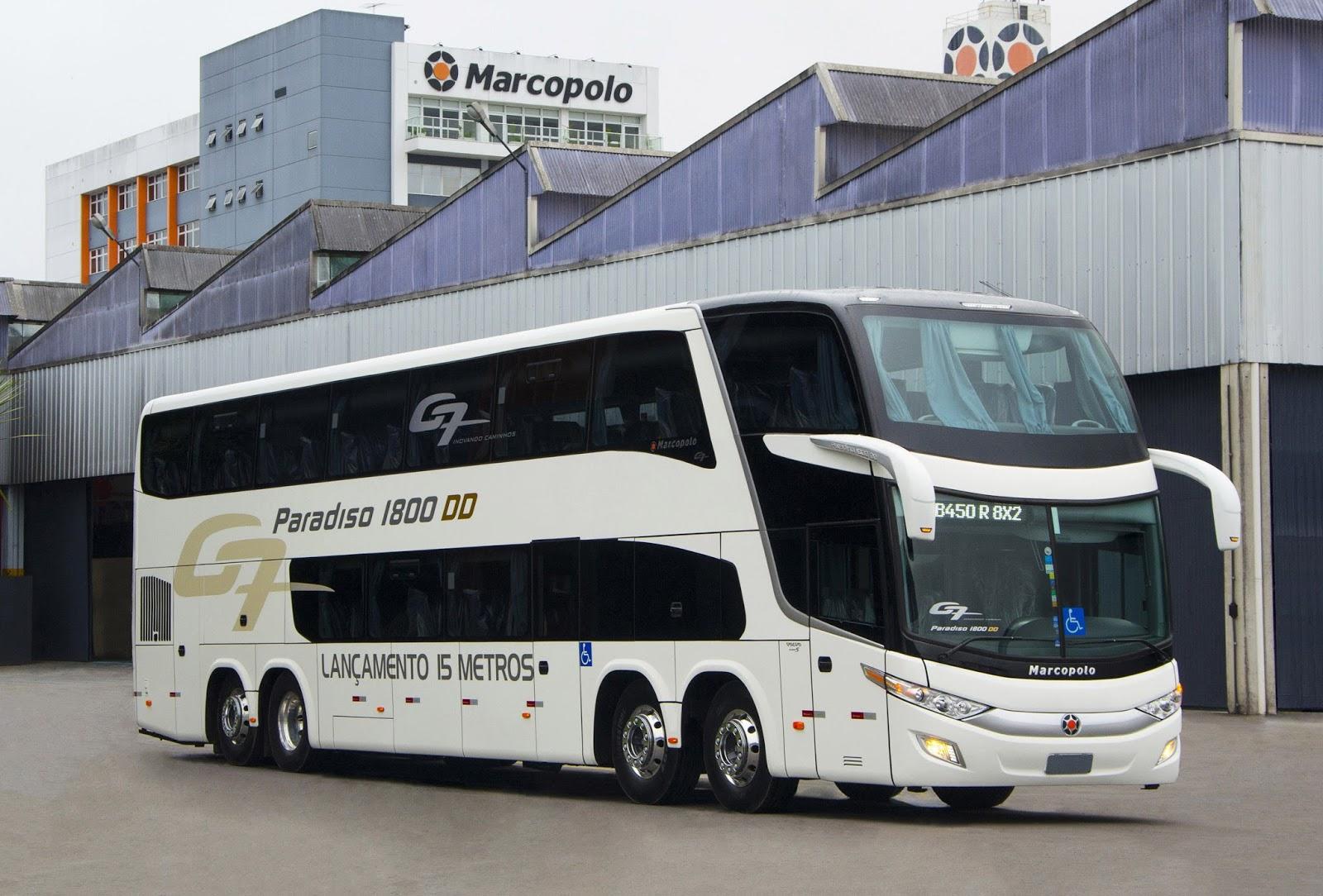 marcopolo presenta el primer bus rodoviario con 15 metros. Black Bedroom Furniture Sets. Home Design Ideas