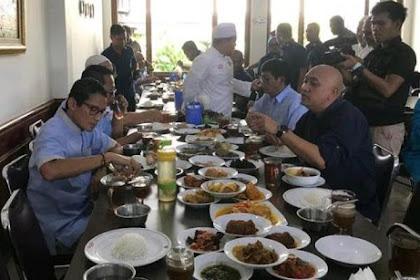 Santap Nasi Padang, Sandi: Pemilu Jangan Dibaperin, Nanti Nggak Boleh Makan Rawon