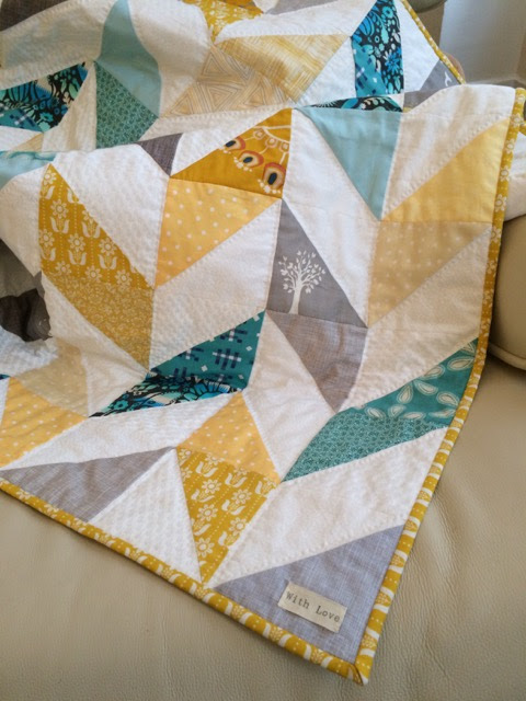Herringbone Baby Quilt Finished